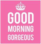 good mornign georgeous.