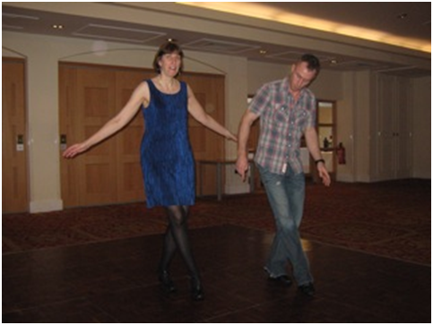 dJames and me dancing