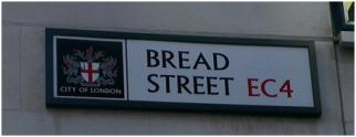 Selling bread on Bread Street