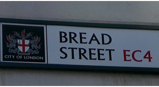 Selling bread on Bread Street