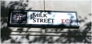 Selling milk on Milk Street