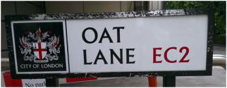 Selling oats on Oat Lane