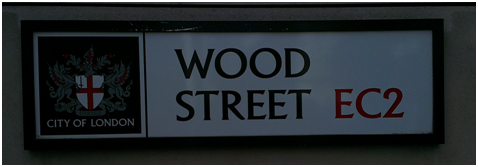 Selling wood on Wood Street