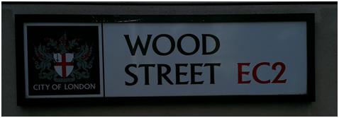 Selling wood on Wood Street