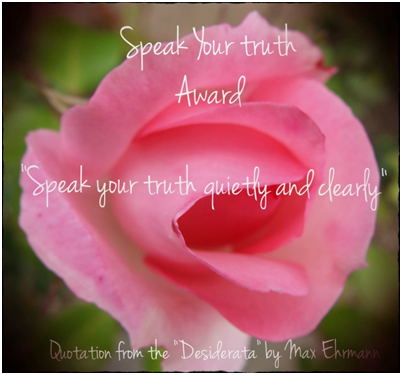 speak your truth award